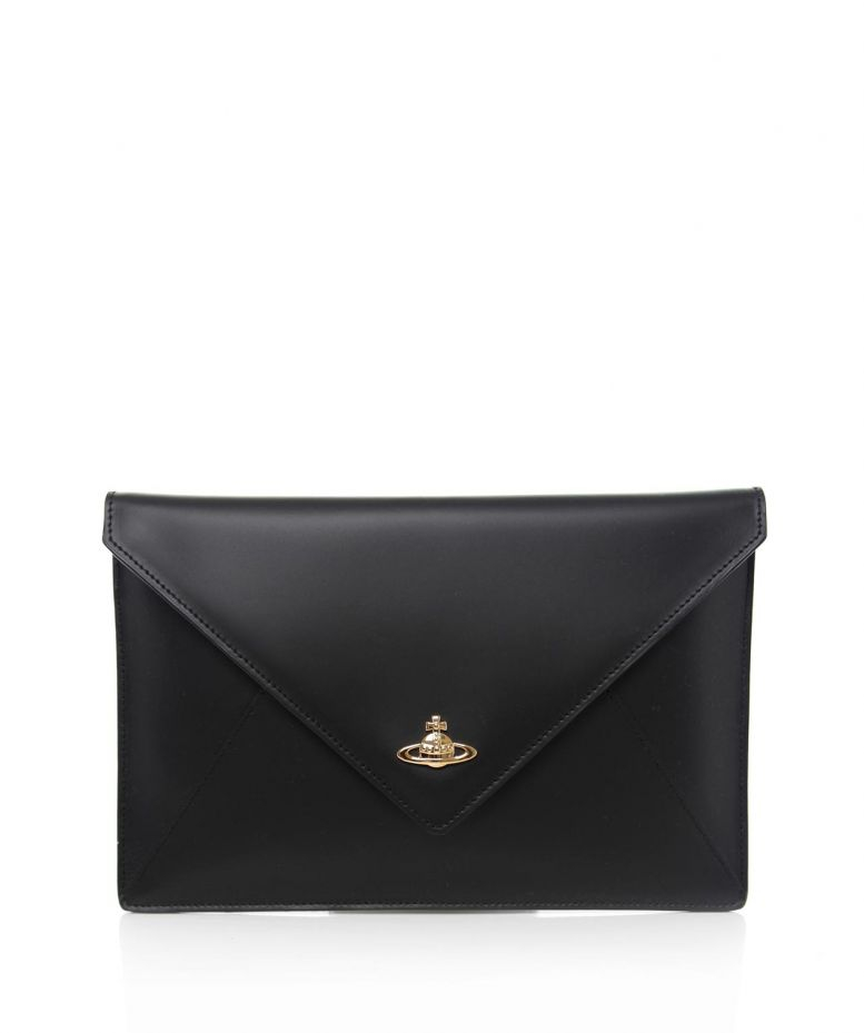 Vivienne Westwood Private Envelope Clutch Bag Black Lyst