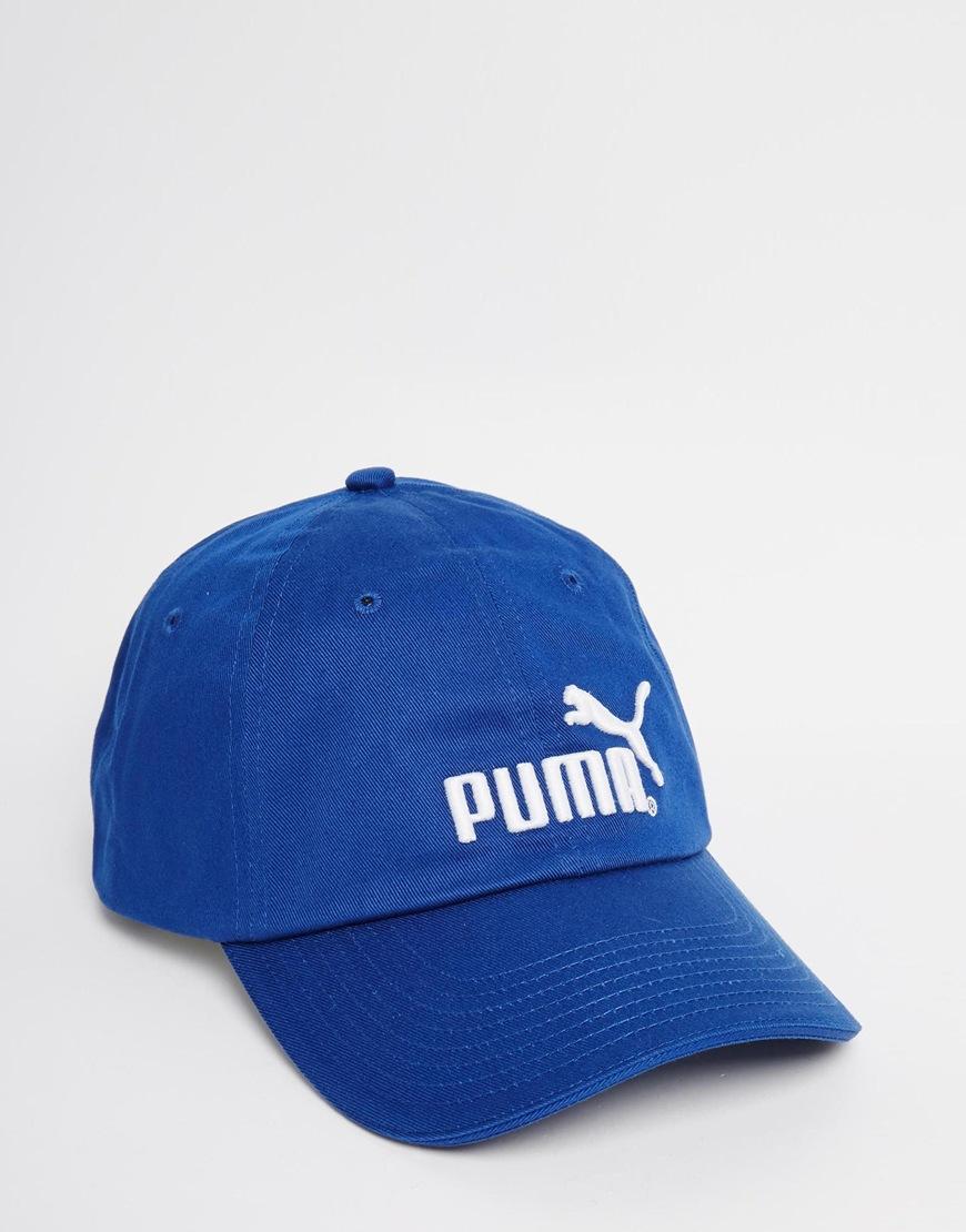 Lyst - PUMA Cap in Blue for Men ea44ac43b6d