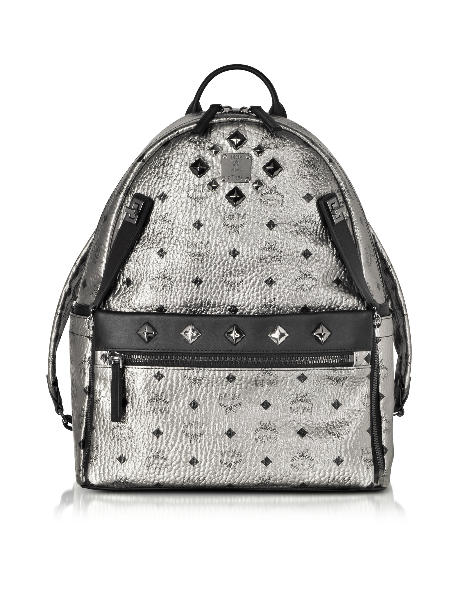 Dual Stark Medium Backpack in Black Visetos MCM bjqhsd