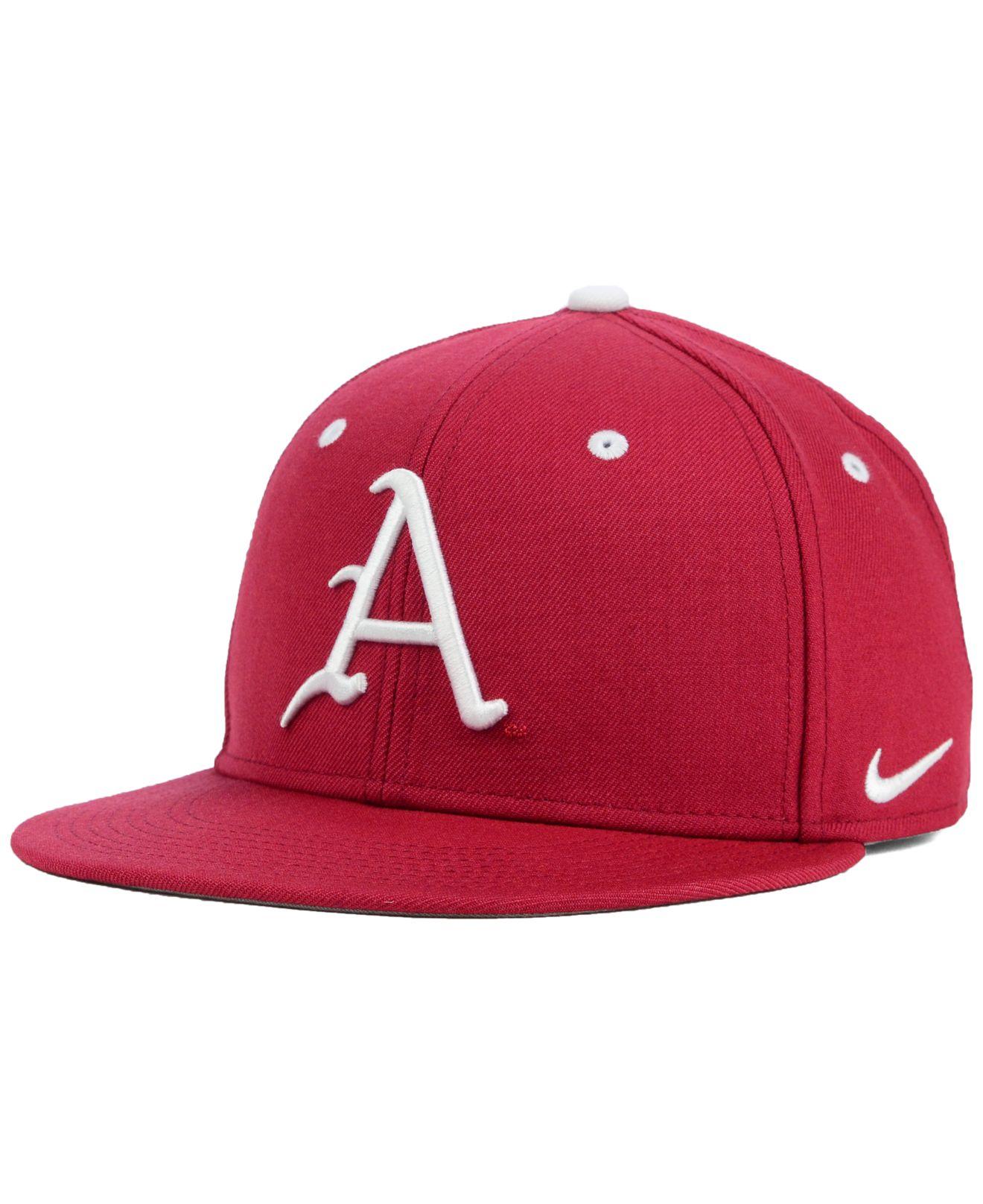 8f608f1b ... canada lyst nike arkansas razorbacks true college fitted cap in pink for  men d71ba 5cd7f