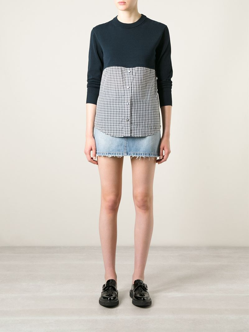 marc by marc jacobs 39 gracie 39 sweater in blue lyst. Black Bedroom Furniture Sets. Home Design Ideas