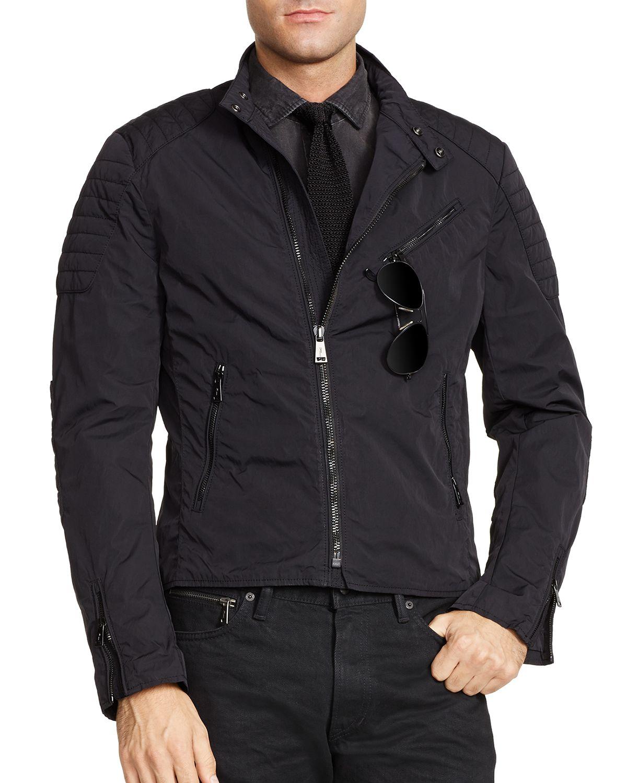 ralph lauren black label speedometer biker jacket slim fit in. Black Bedroom Furniture Sets. Home Design Ideas