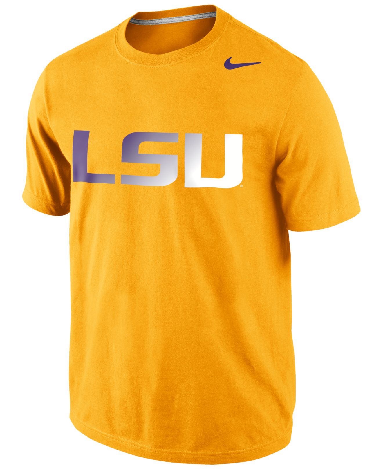 Nike lsu tigers gradient t shirt in orange for men gold lyst