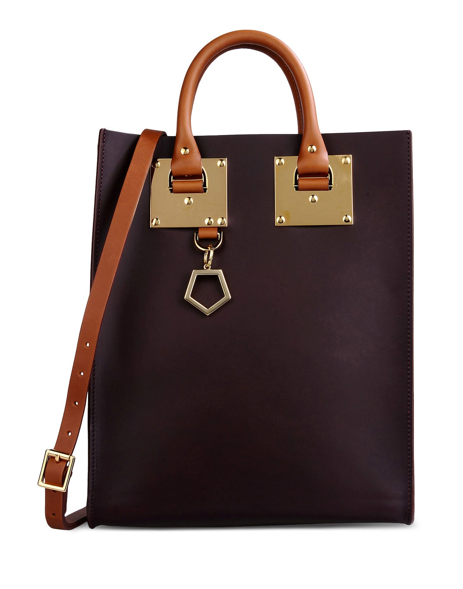 Sophie hulme Medium Leather Bag in Brown (Dark brown) | Lyst