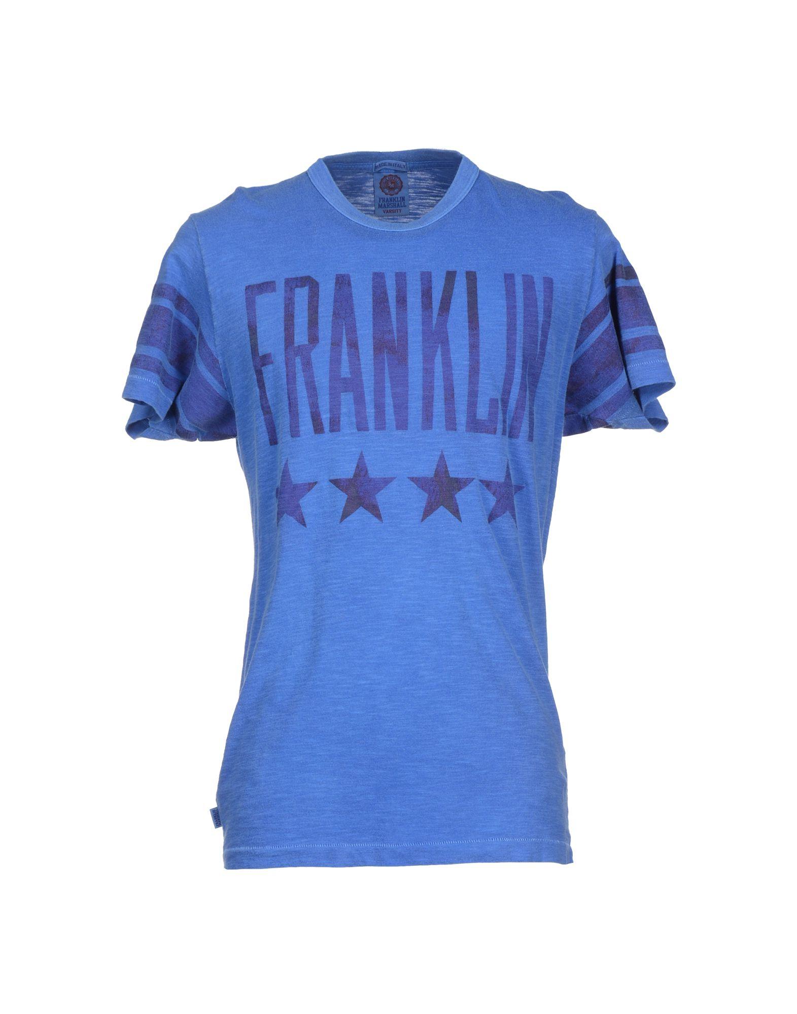 Lyst Franklin Marshall T Shirt In Blue For Men