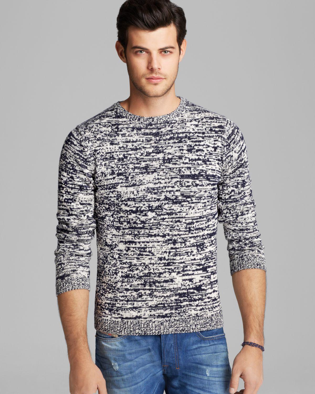 Gant rugger Marled Crue Sweater in White for Men | Lyst