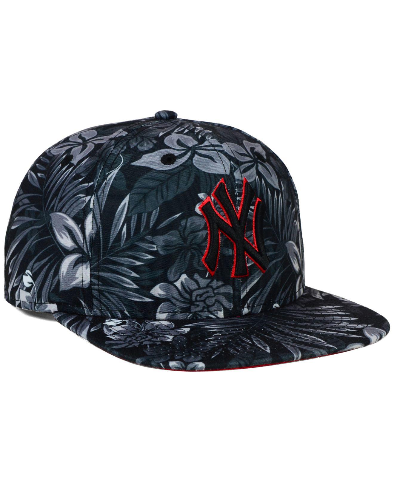 7d502fa1fc3 ... wholesale lyst ktz new york yankees night tropic 9fifty snapback cap in  ec1ed 83fe3