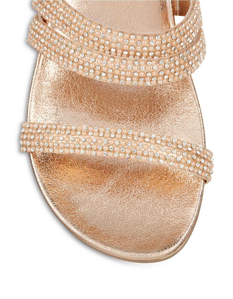 c03ddb0842ca Lyst - Kenneth Cole Reaction Slim Shotz Beaded Sandals in Pink