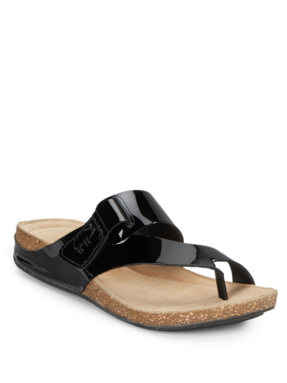 4709e2684 Lyst - Clarks Perri Coast Patent Leather Sandals in Black