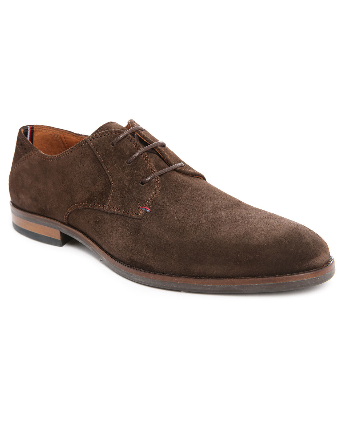 Tommy hilfiger Dalton 15b Brown Suede Derbies in Brown for