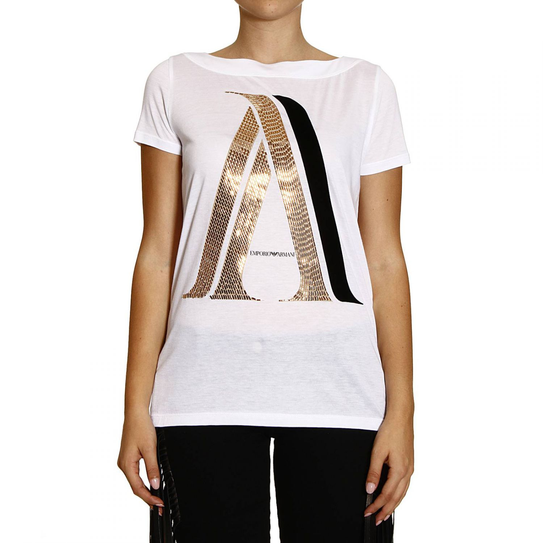giorgio armani t shirt short sleeve crewneck with logo. Black Bedroom Furniture Sets. Home Design Ideas