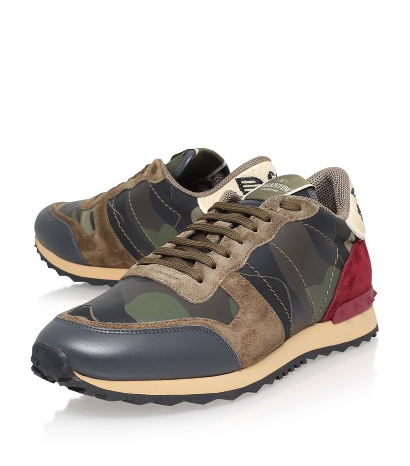 valentino eagle camo runner sneaker in brown for men lyst. Black Bedroom Furniture Sets. Home Design Ideas