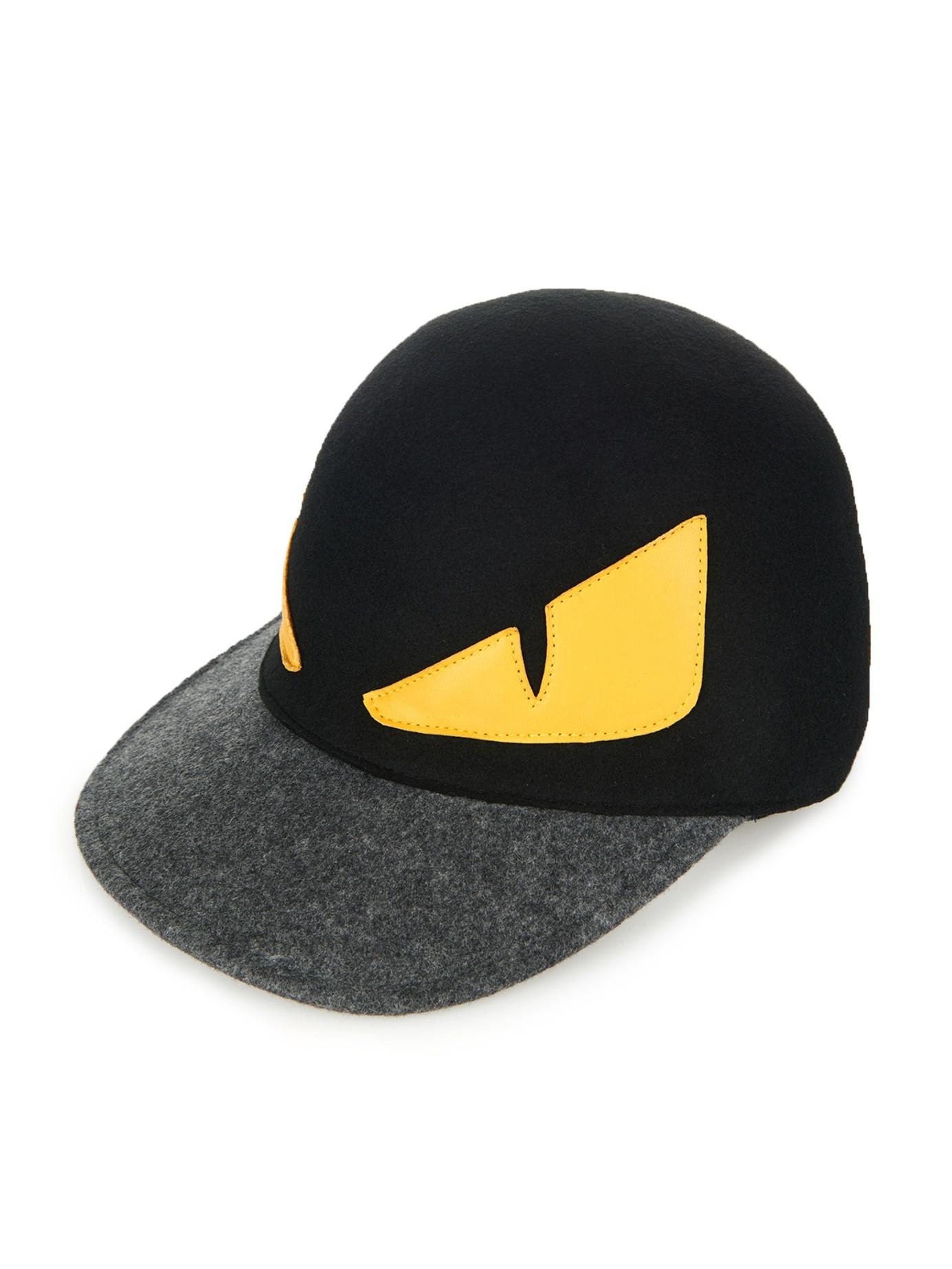 Lyst - Fendi Monster Eyes Wool-Felt Cap in Black for Men 6e6a48c5b06