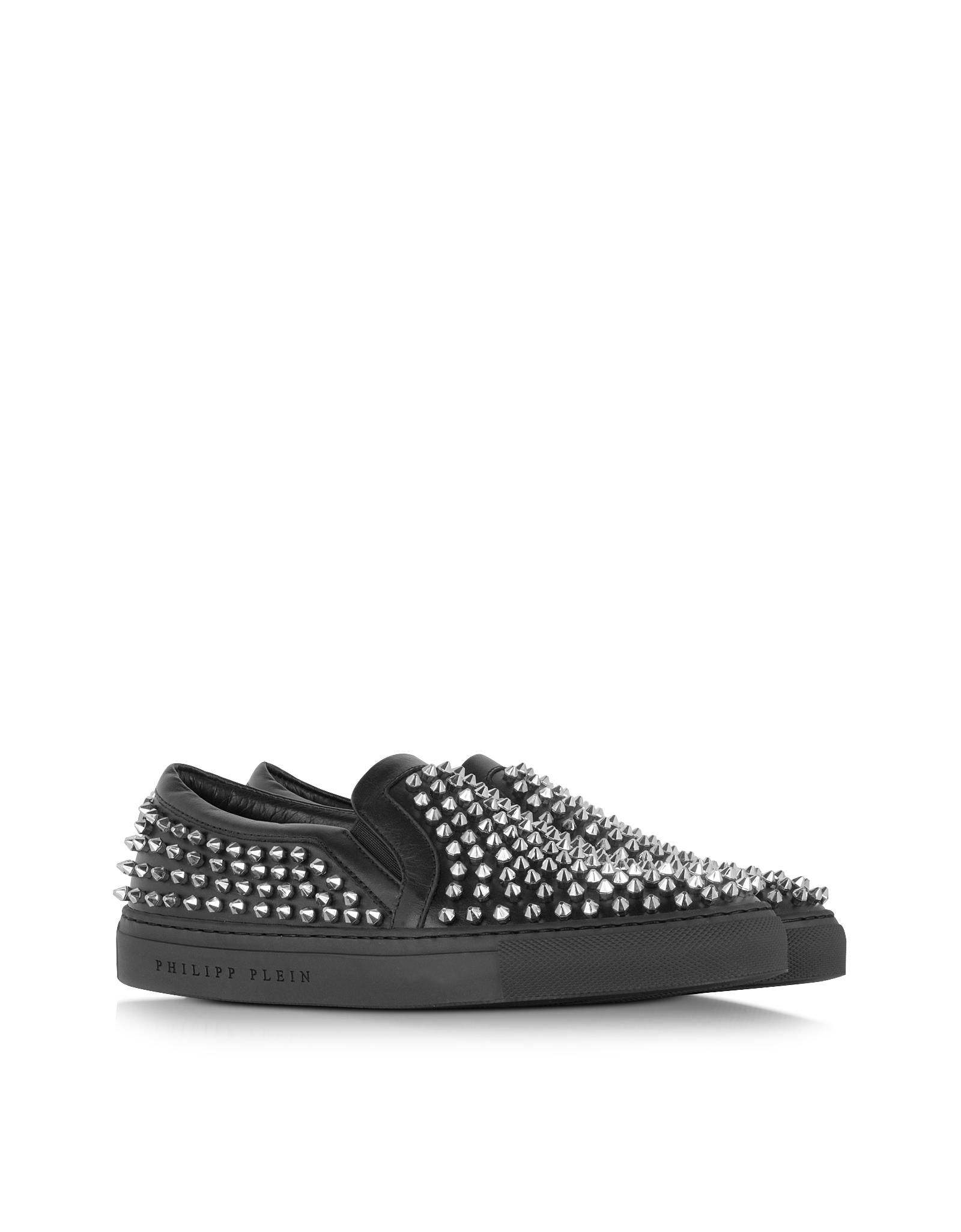 Leather Sneaker Wstuds On Possible Lyst Slip Wz6xpv Plein Philipp Black b7Ygy6f