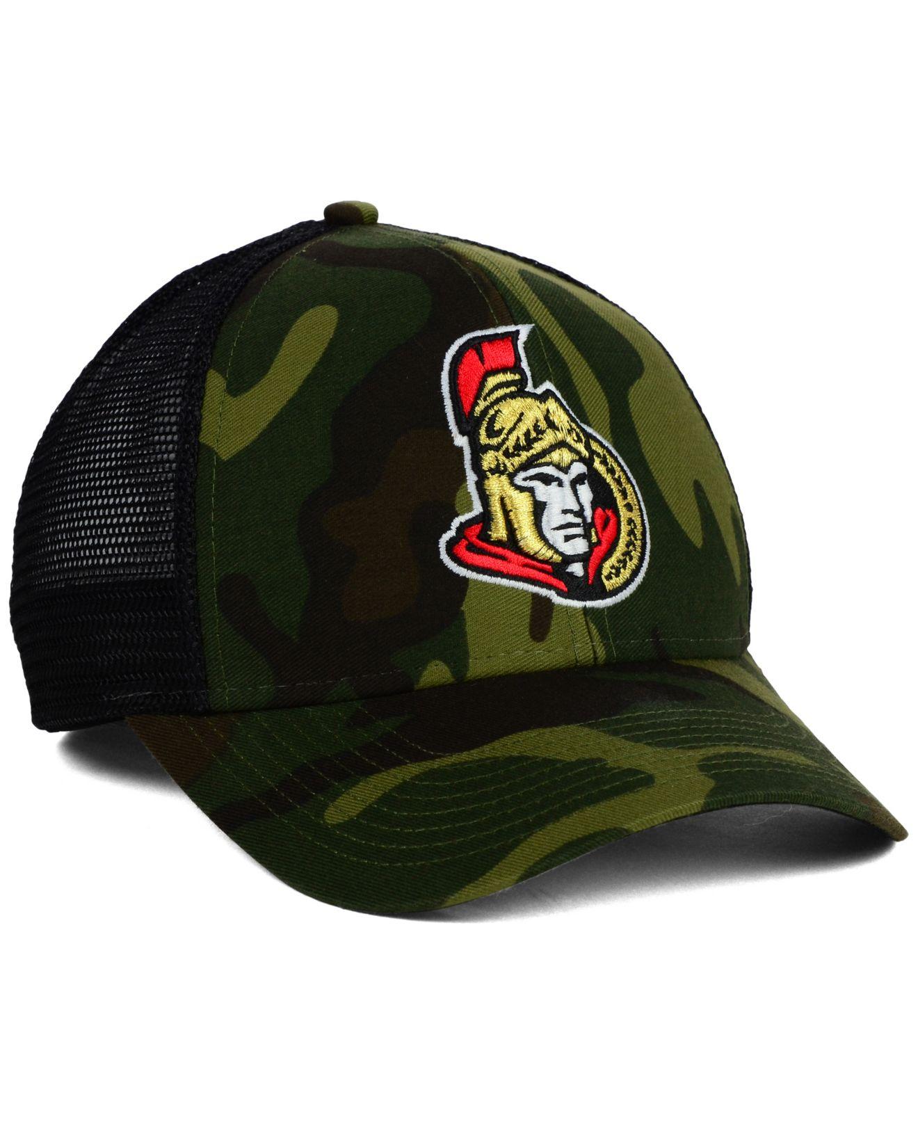 new styles 0a0f3 90247 ... caps new eratop designer 692ee d7f55  where to buy lyst reebok ottawa  senators camo trucker cap in green for men 6d639 a86c1