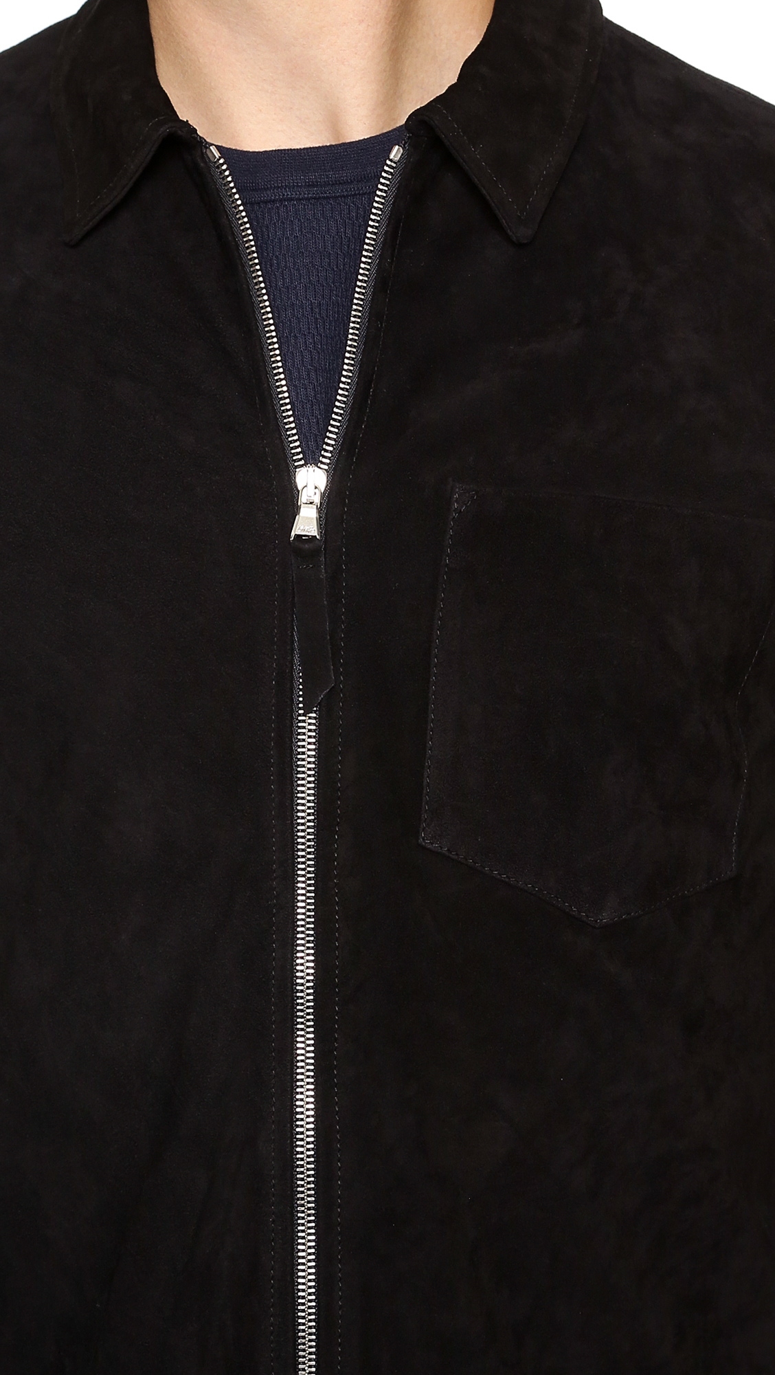 05a790ae3982 Lyst - Our Legacy Suede Zip Shirt Jacket in Black for Men