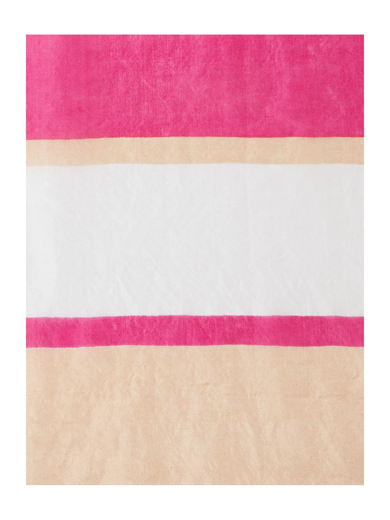 linea colour block striped scarf in pink fuchsia lyst. Black Bedroom Furniture Sets. Home Design Ideas