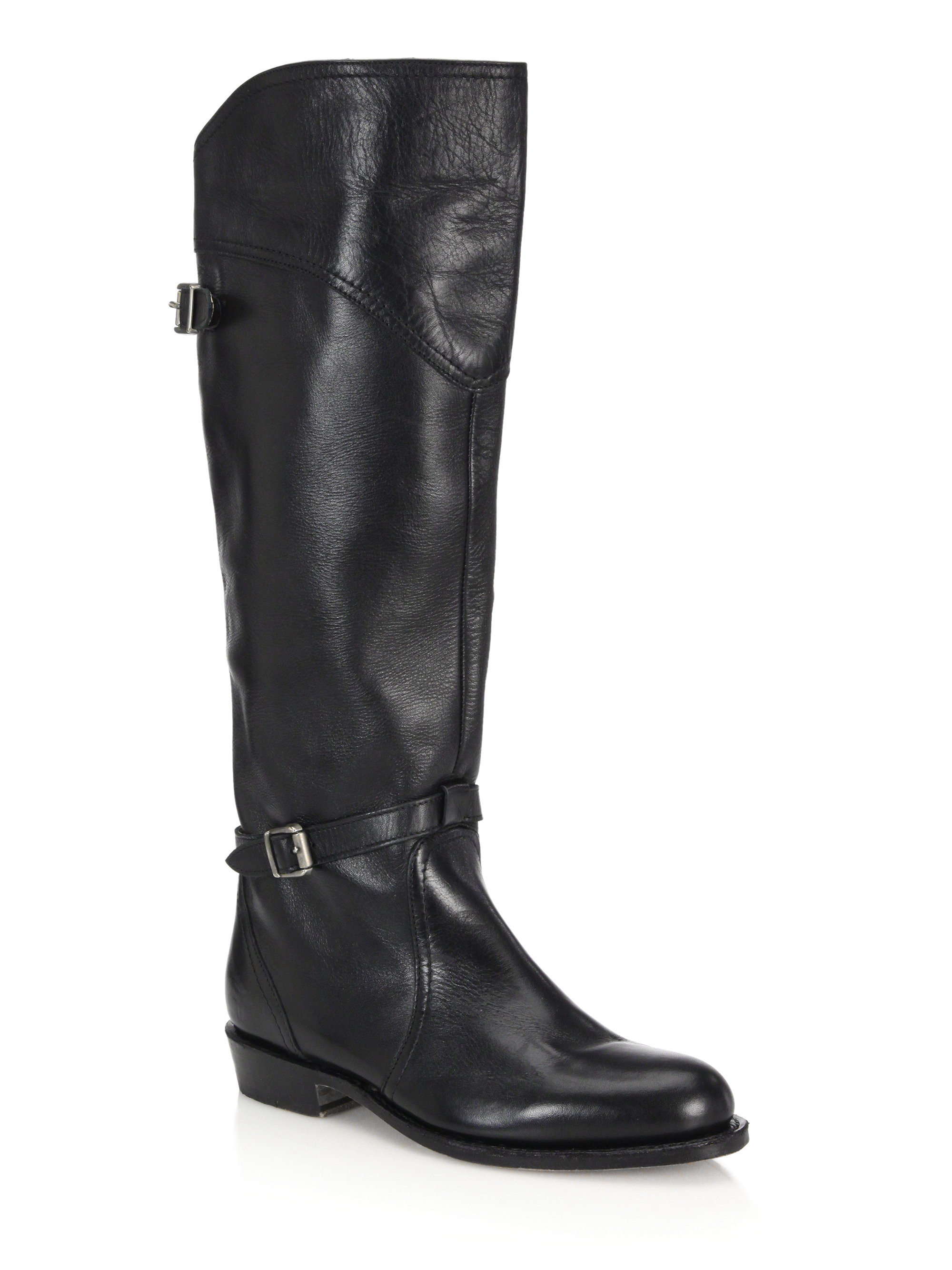 frye dorado leather boots in black lyst