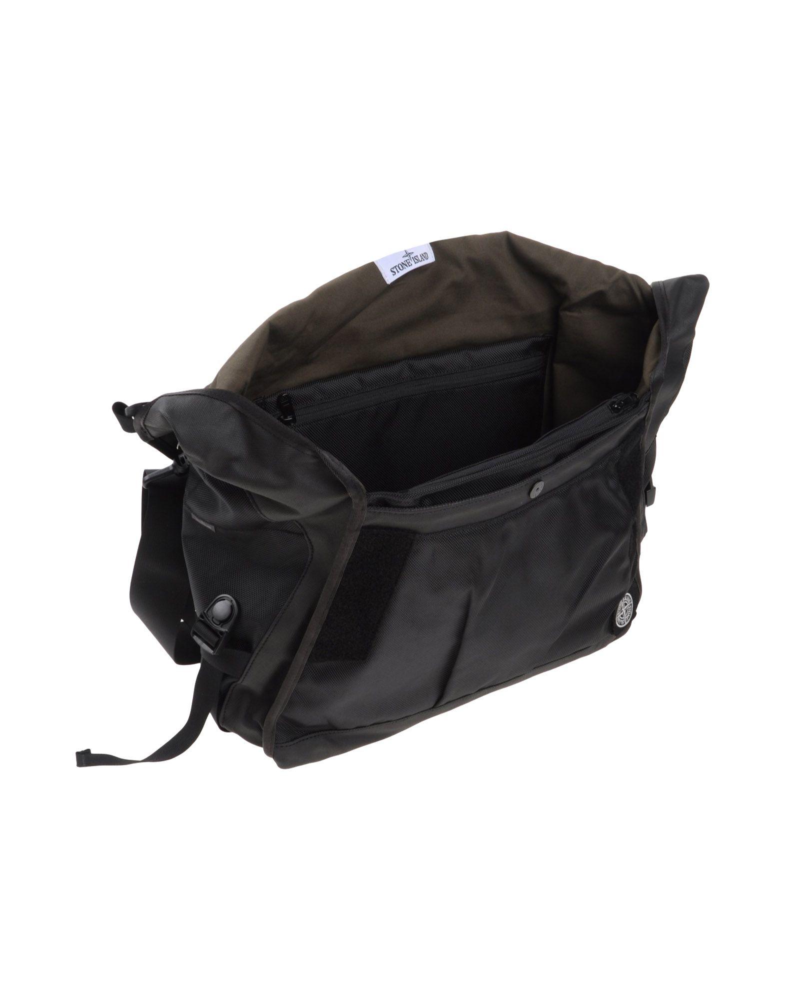 Stone Island Cross Body Bag In Black For Men Lyst