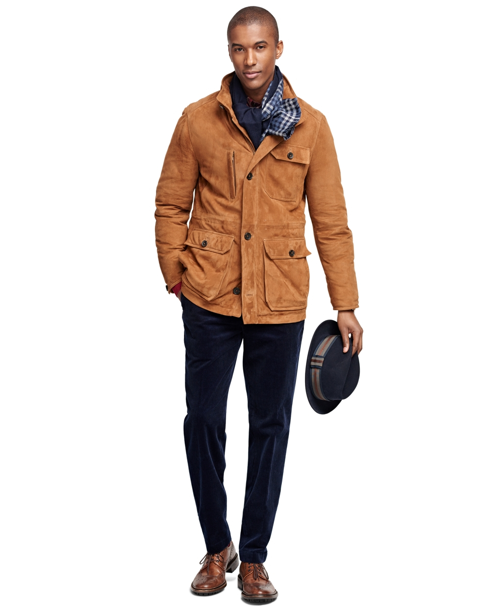 Brooks Brothers Suede Jacket In Brown For Men Lyst