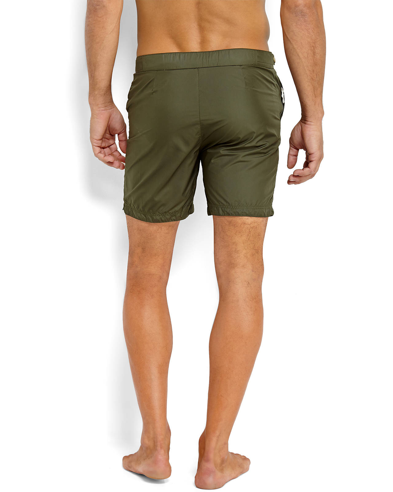 34c0c340108ac Robinson Les Bains Olive Tech Swim Trunks in Green for Men - Lyst