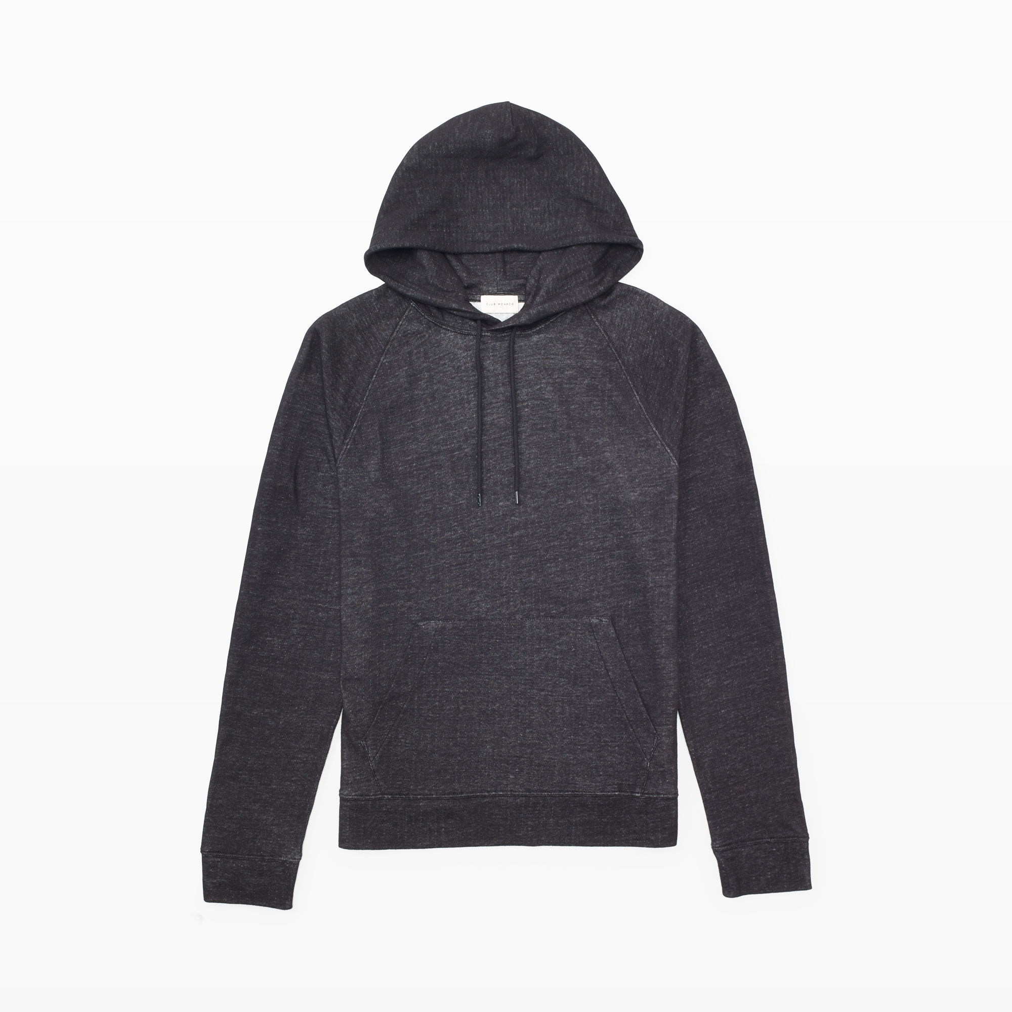 Club monaco Knit Sweater Hoodie in Black for Men | Lyst