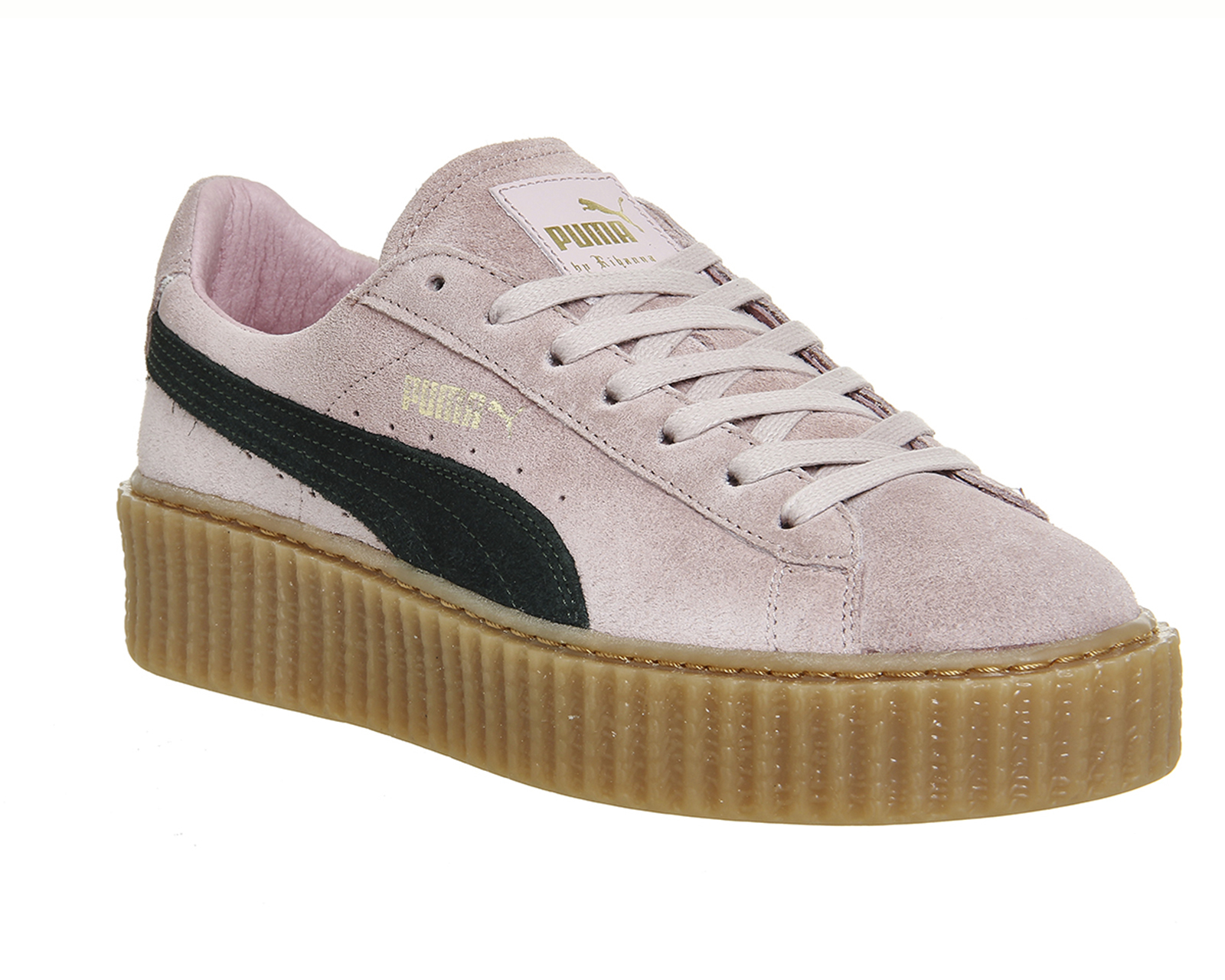 puma suede creepers in pink lyst. Black Bedroom Furniture Sets. Home Design Ideas