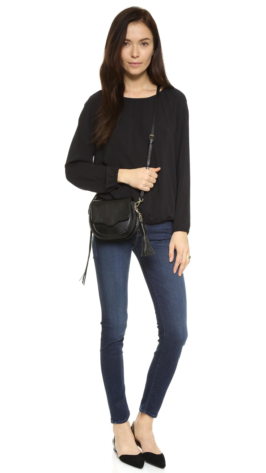 Rebecca Minkoff Mini Suki Saddle Bag In Black