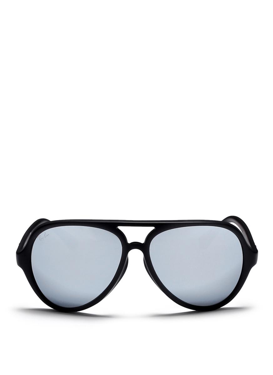 17b211a619 ... czech lyst ray ban cats 5000 matte acetate aviator sunglasses in black  eb5c1 02f50