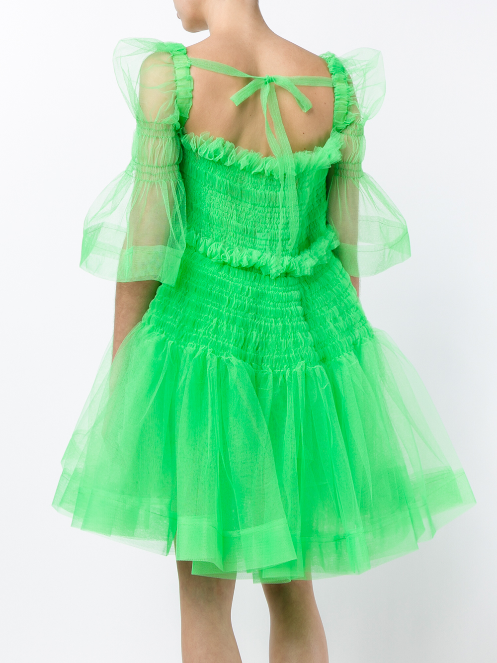 Lyst - Molly Goddard Sophie Tulle Mini Dress in Green