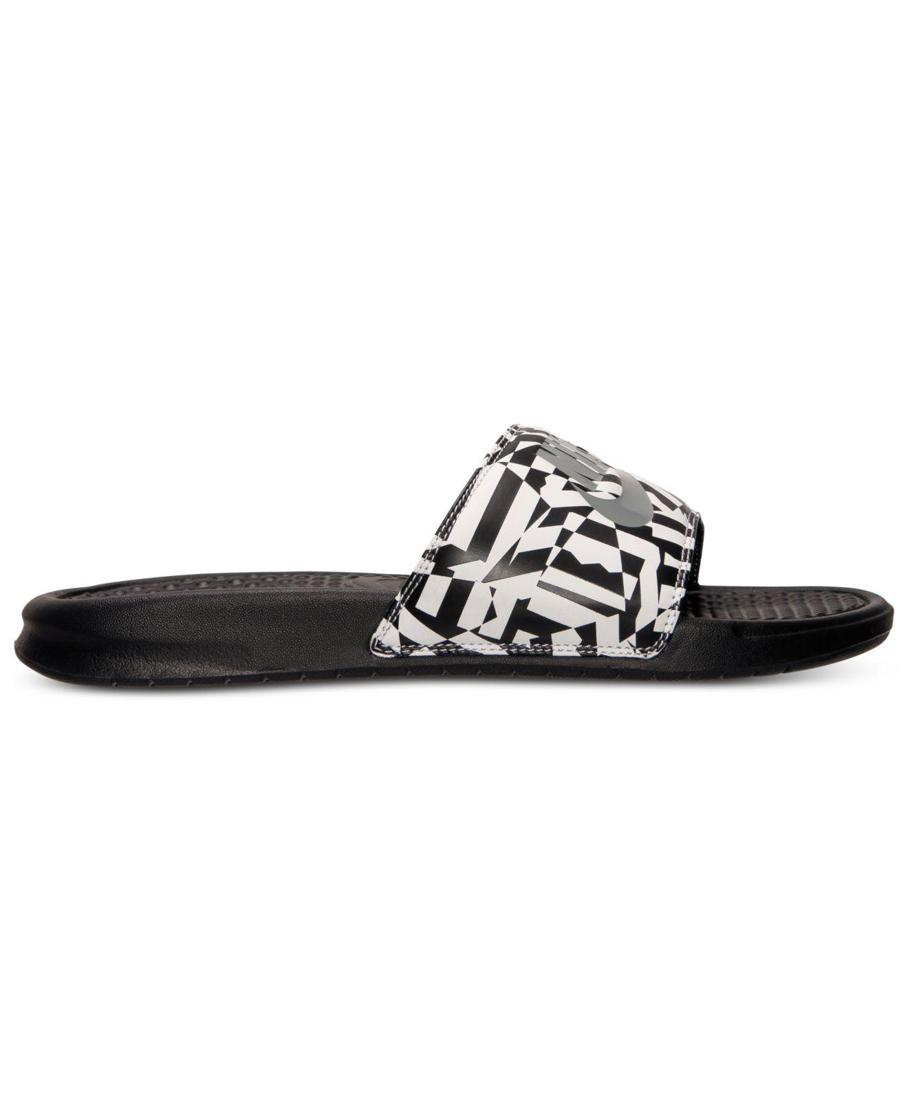 41e39703b3f9 Lyst - Nike Men S Benassi Jdi Print Slide Sandals From Finish Line in Black  for Men