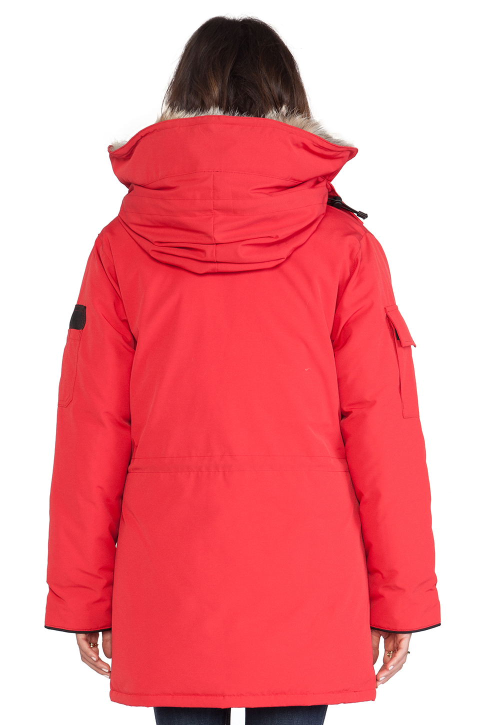 Canada Goose montebello parka online official - Canada goose Expedition Parka With Coyote Fur Trim in Red | Lyst