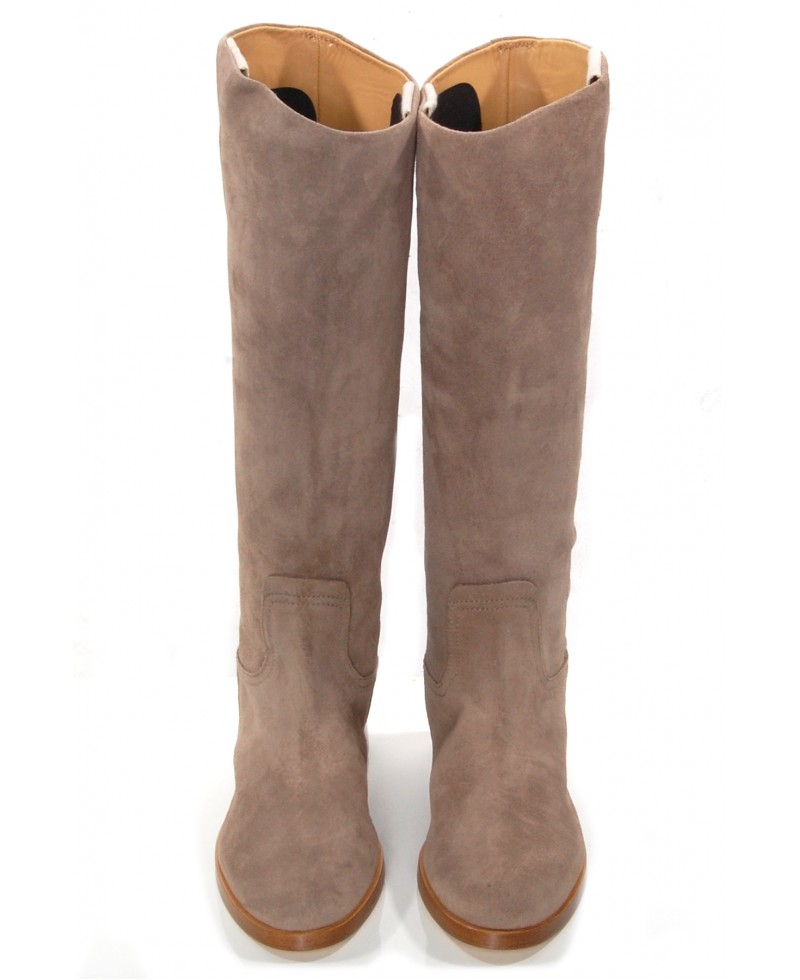 Rag & bone Holly Stone Suede Riding Boot in Brown | Lyst