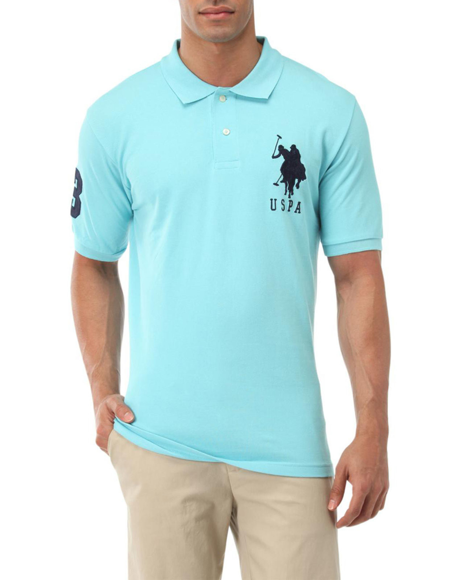 Lyst U S Polo Assn Big Logo Polo Shirt In Blue For Men