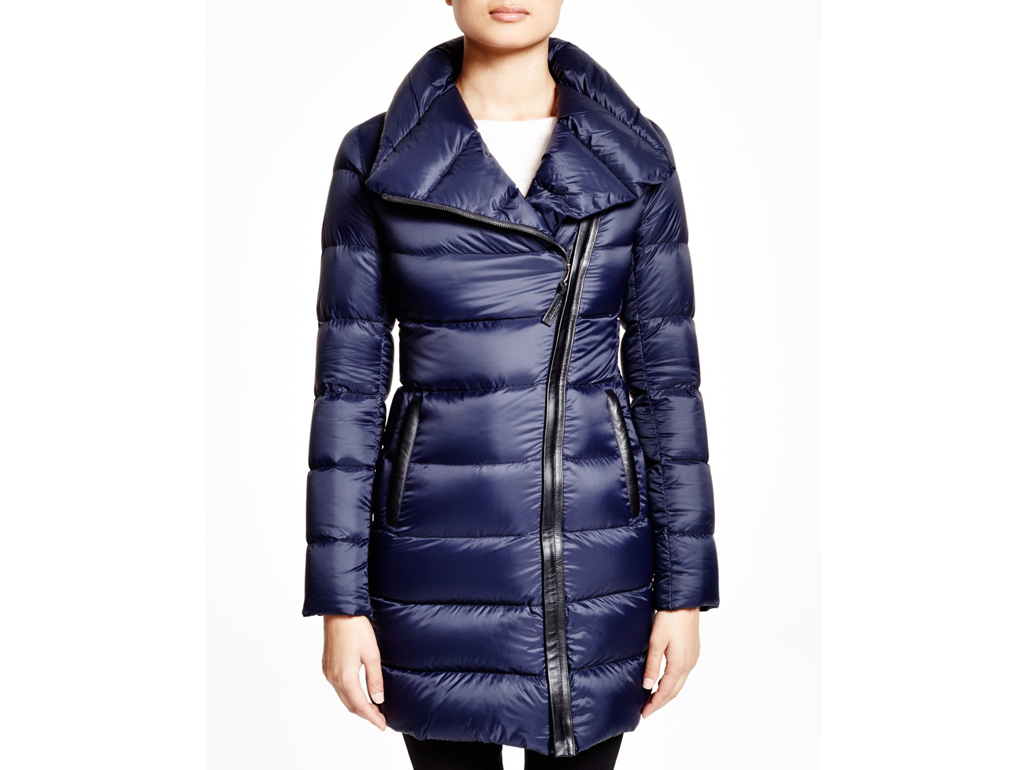 Mackage Yara Lightweight Down Coat in Blue | Lyst