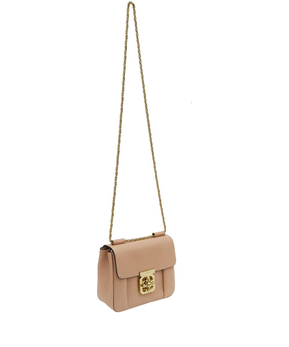 Chlo¨¦ Beige Small Elsie Leather Bag in Beige | Lyst