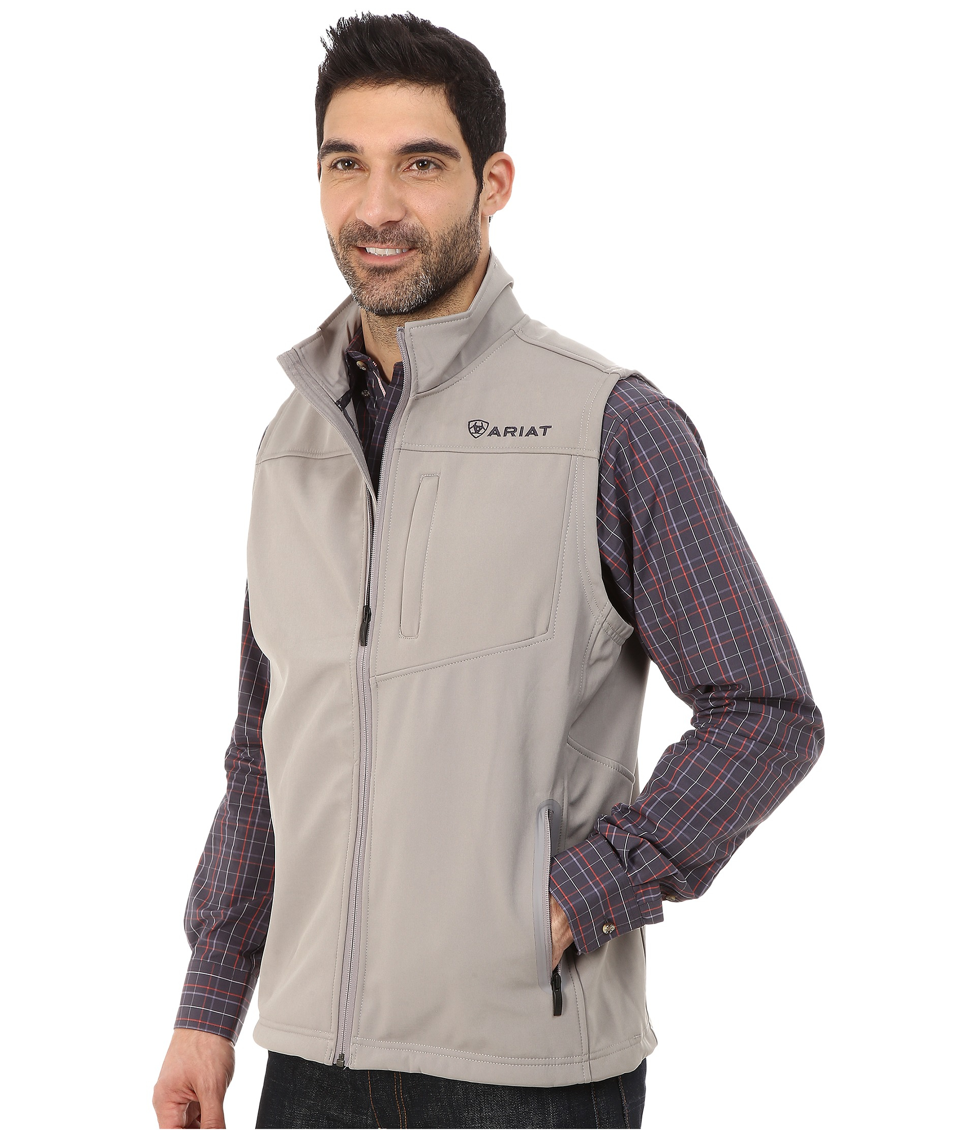 Lyst - Ariat Vernon Softshell Vest in Gray for Men
