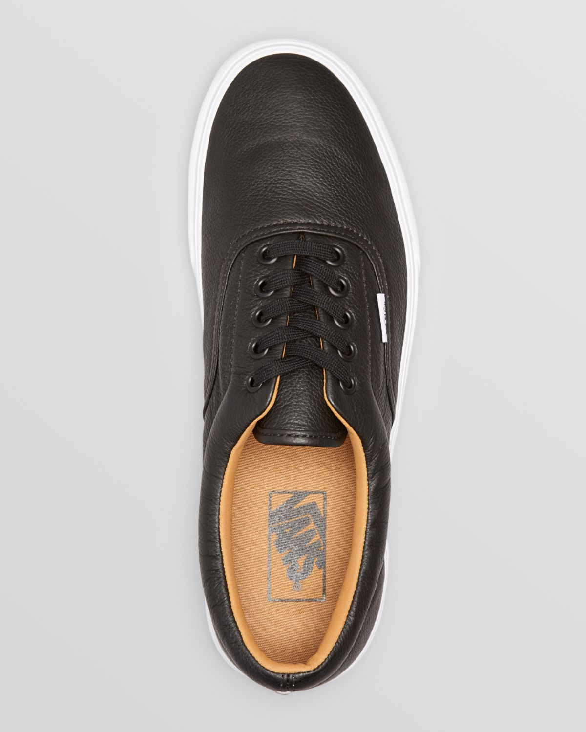 2e90baecf5f Lyst - Vans Era Premium Leather Lace-Up Sneakers in Black for Men