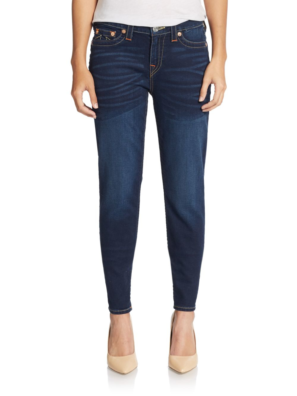 True religion Premium Skinny Jeans in Blue | Lyst