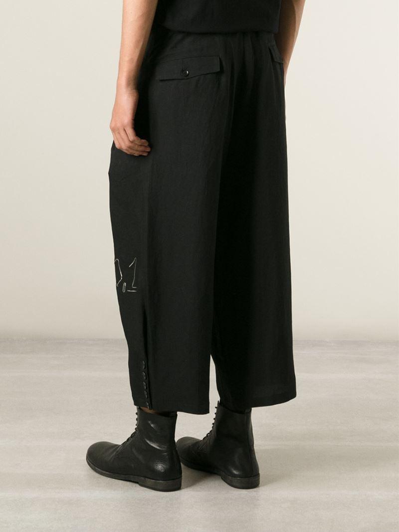 wide leg trousers - Black Yohji Yamamoto lYgpFY