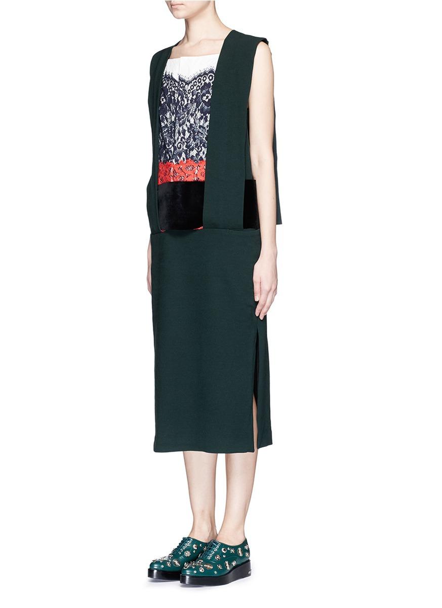 Round-neck bead-embellished wool-blend dress Toga Archives J8HgjJ0s