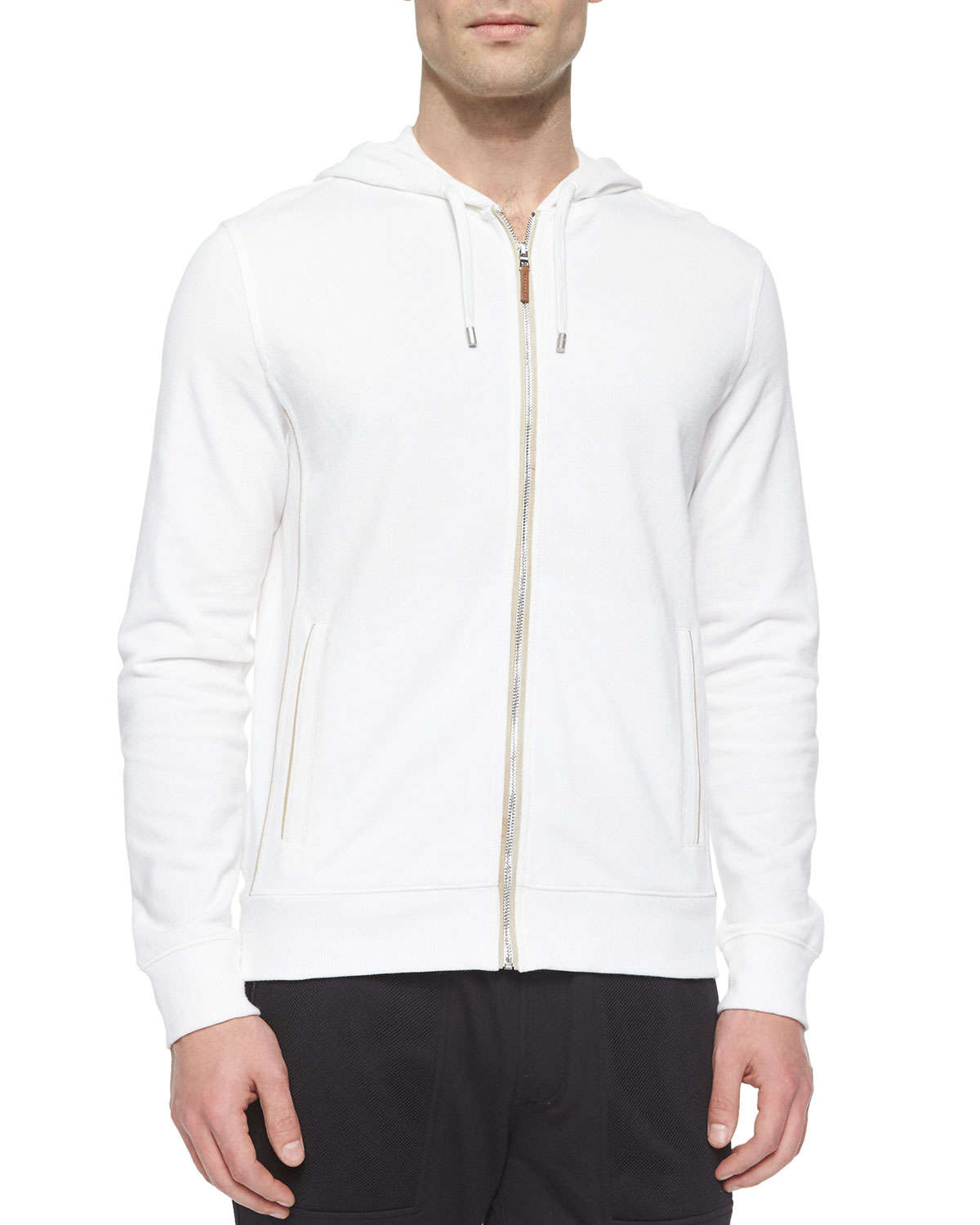 Michael kors Waffle-knit Zip-up Hoodie Jacket in White for Men | Lyst
