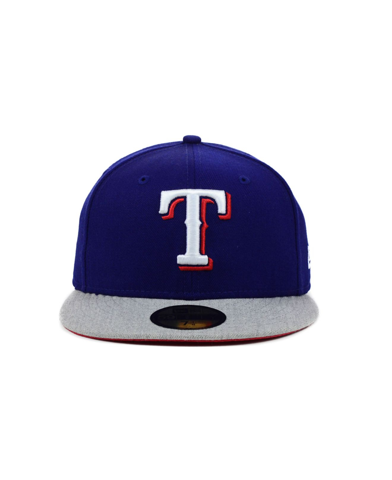 hot sale online 0e363 7f704 Lyst - KTZ Texas Rangers Mlb Team Heather 59fifty Cap in Blue for Men