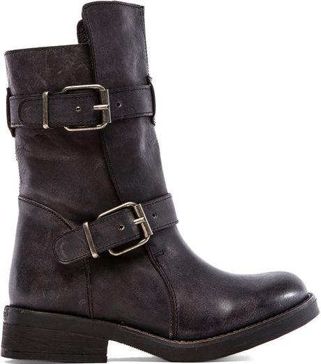 steve madden black boots leather sandals