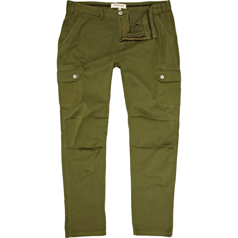 Lyst River Island Green Cargo Pants In Green For Men