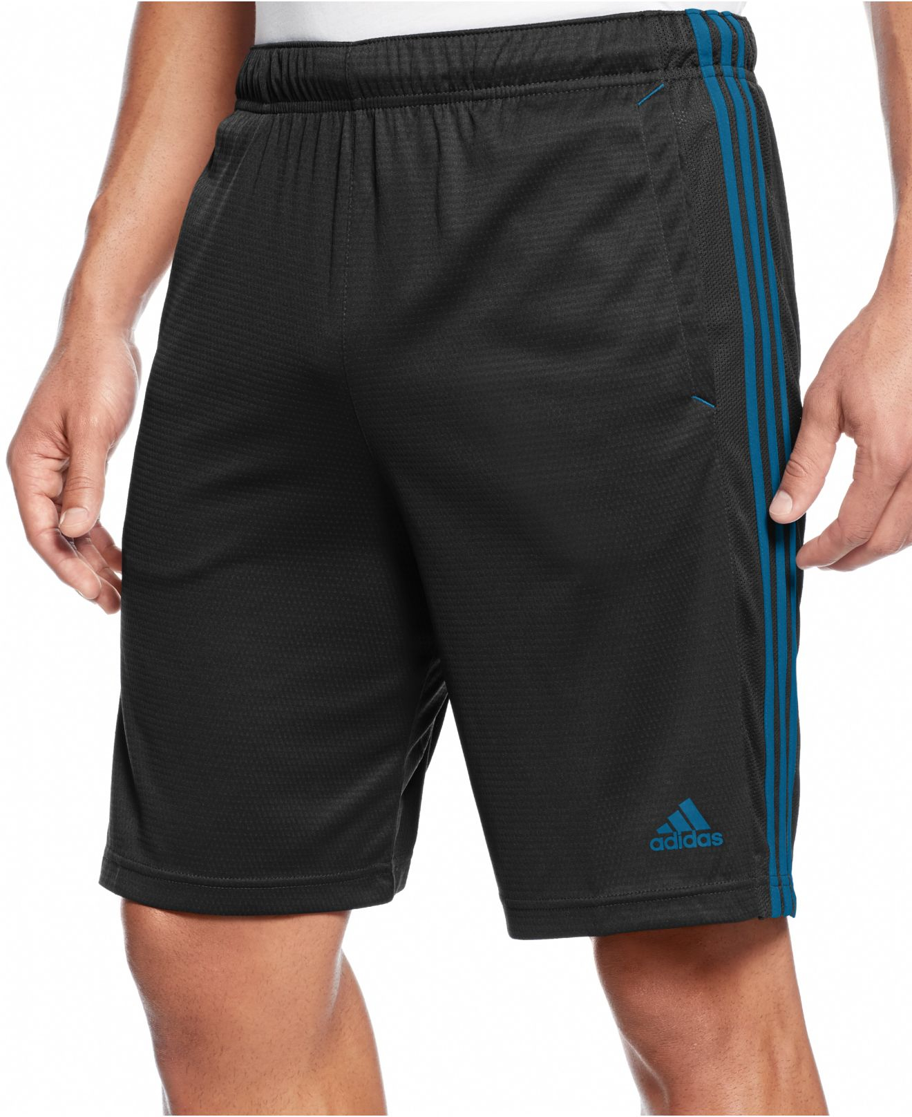lyst adidas men 39 s climalite essential shorts in black. Black Bedroom Furniture Sets. Home Design Ideas
