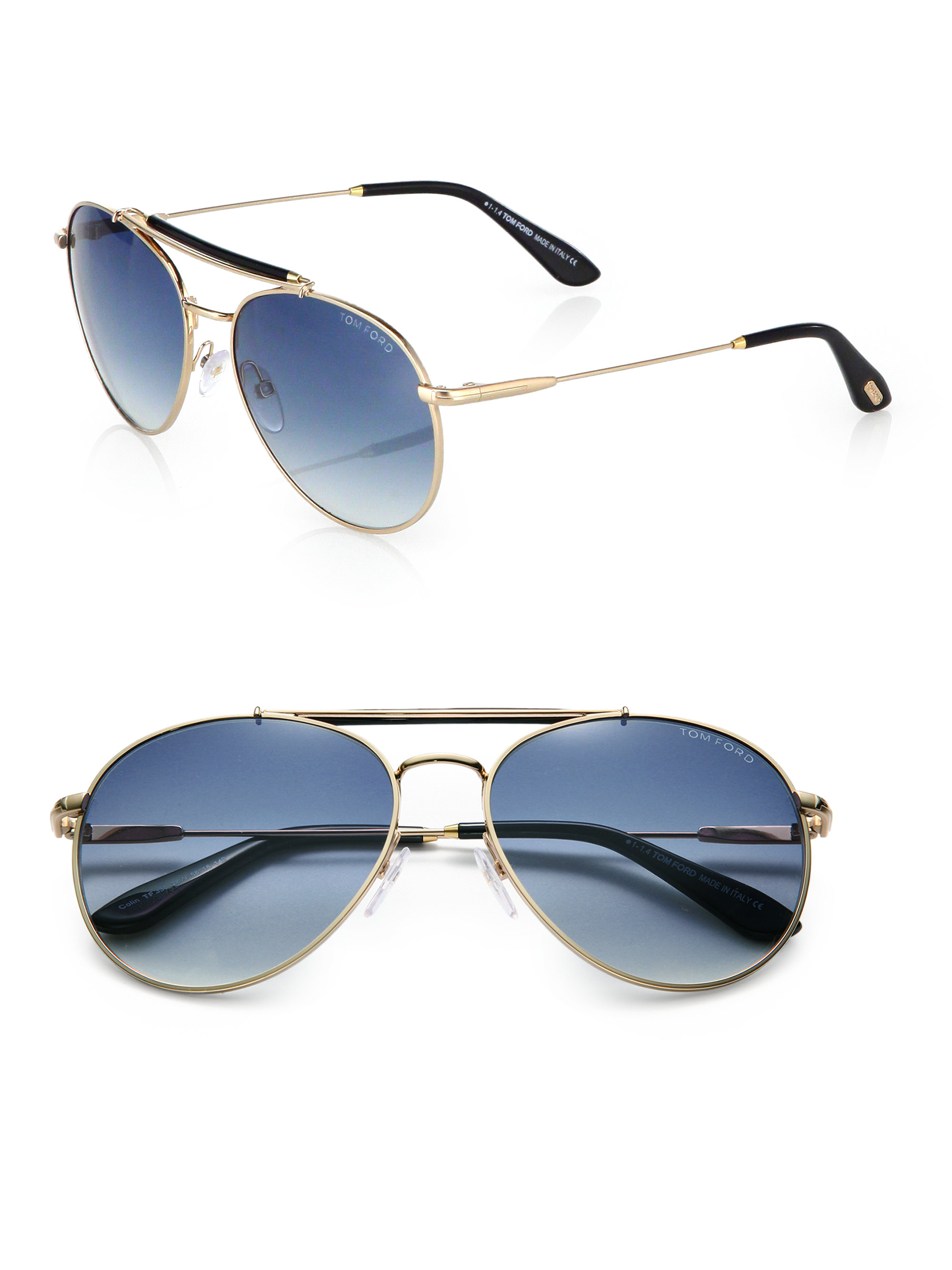 tom ford colin metal aviator sunglasses in blue for men lyst. Black Bedroom Furniture Sets. Home Design Ideas