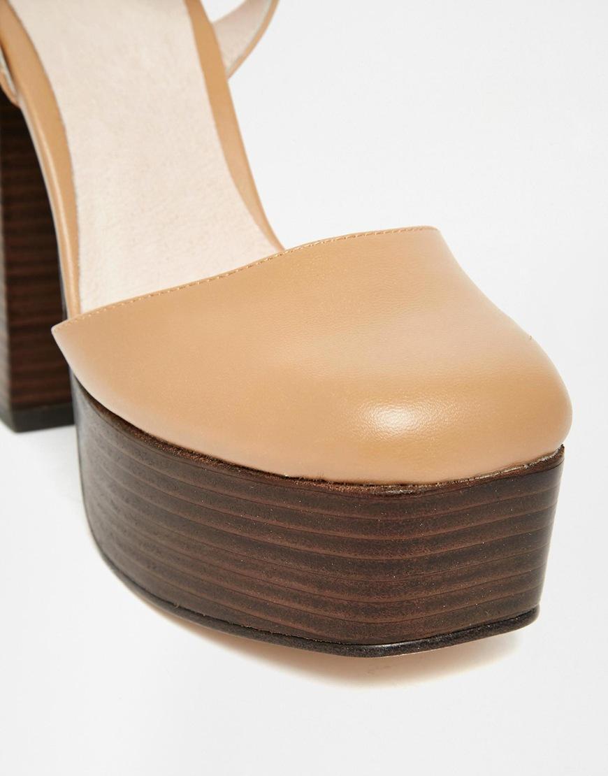 0a22e8e737 Faith Courvette 70's Platform Shoes in Brown - Lyst