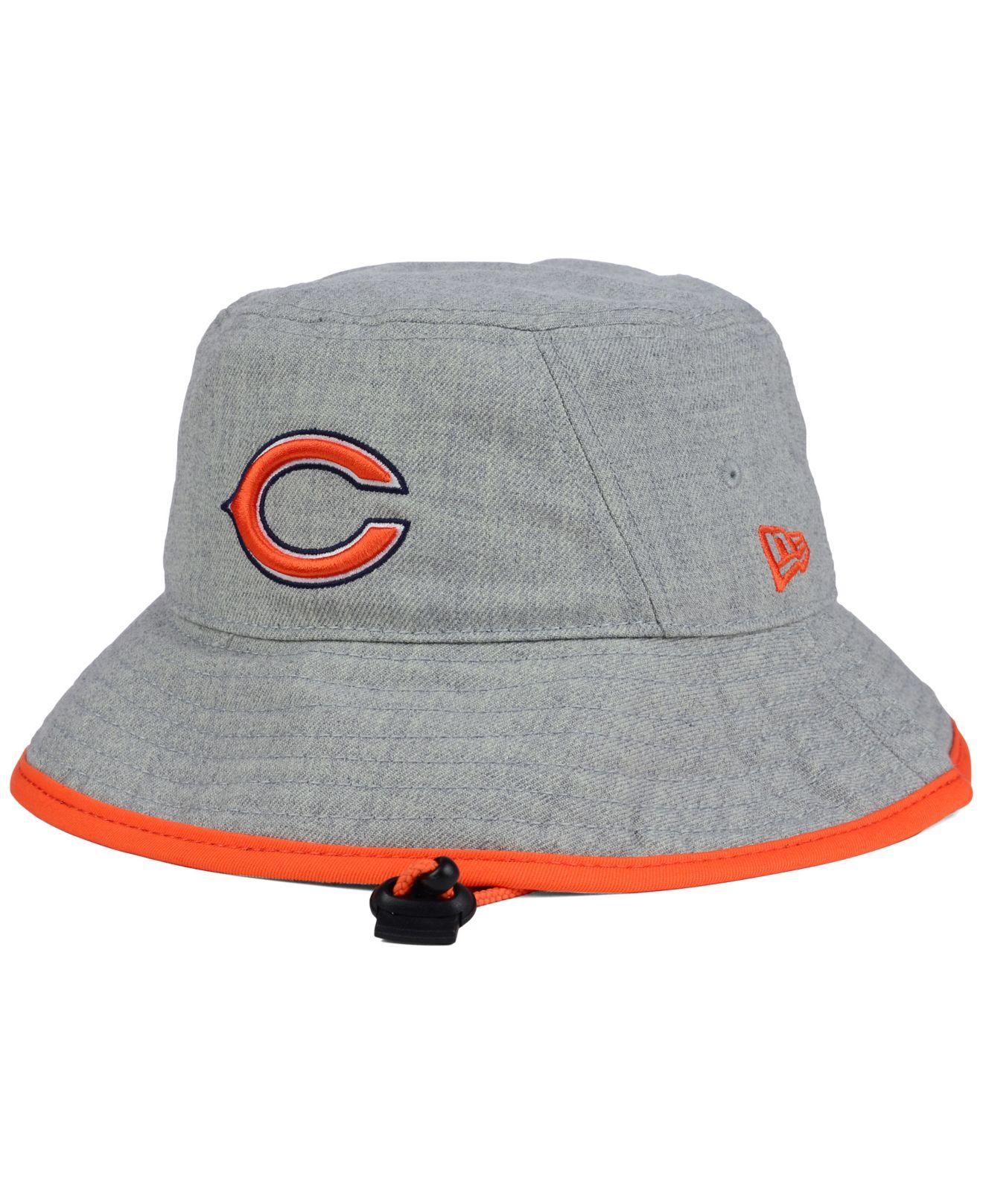 f3ba86d1aa58d KTZ Chicago Bears Nfl Heather Gray Bucket Hat in Gray for Men - Lyst