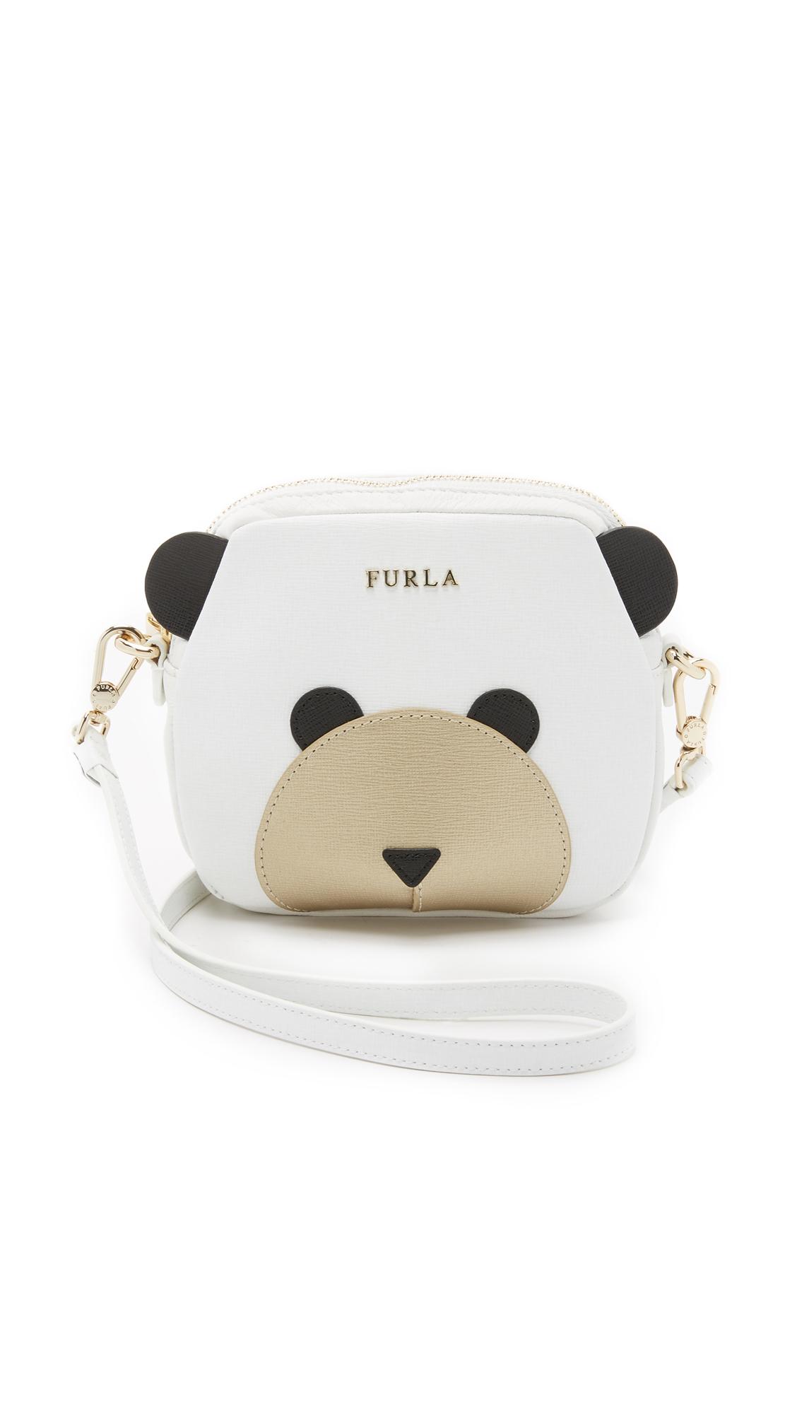 Lyst Furla Allegra Bear Pouch In White
